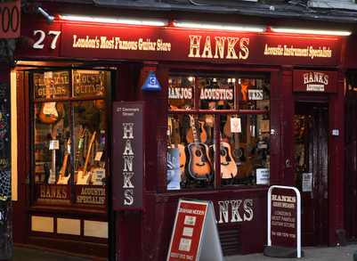 Hank's Music shop, Denmark Street 'Tin Pan Alley' , London, 2012