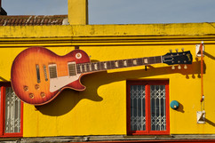 Red Guitar, The Laines, Brighton, 2010
