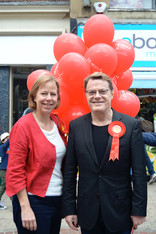 Ruth Cadbury, Parliamentary Candidate with Eddie Izzard, Hounslow 2014