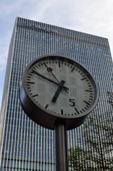 Canary Wharf clock, London, 2013