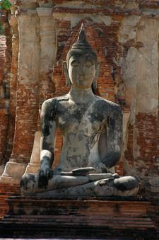 Buddah meditating. Attutaya, Thailand