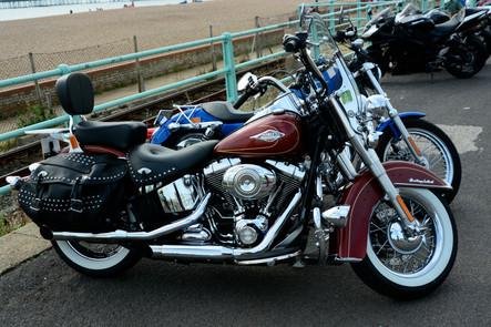 Harley Davison Bike, Brighton seafront, 2014