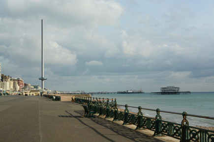 Hove seafront with i360