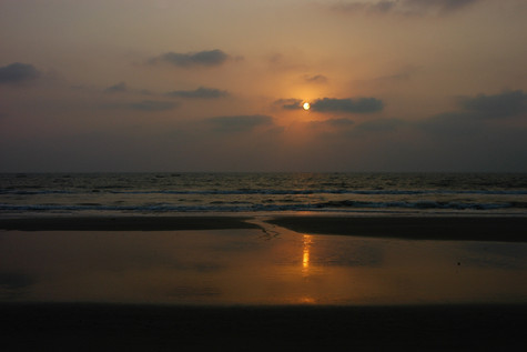 Goan sunset seascape, 2008