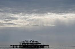 West Pier sunset, Brighton