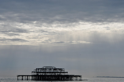 West Pier sunset, Brighton