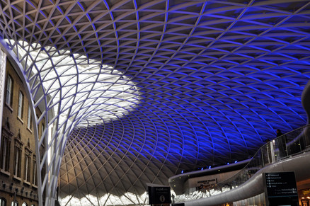 New roof (2) King's Cross Station, London, 2013
