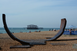 West pier beachscape, Brighton