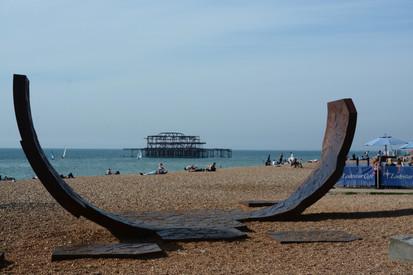 West pier beachscape, Brighton