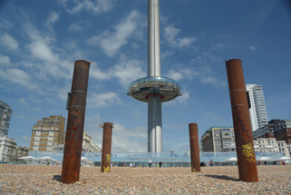i360 descending pod Brighton Beeach