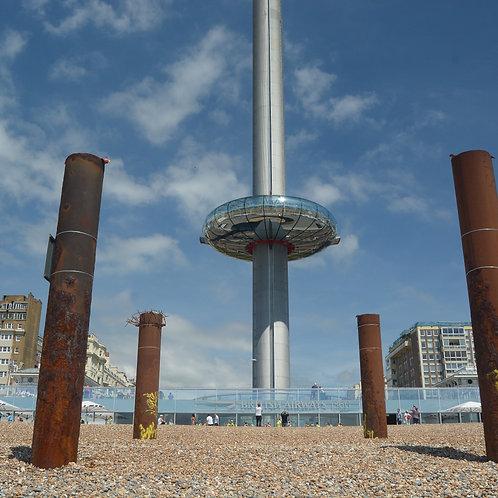 i360 pod descending Brighton Beach