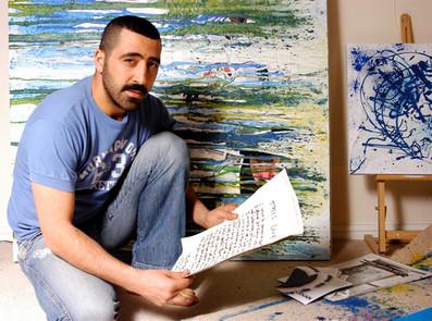 Ilyas, painter, London