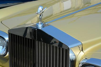Rolls Royce bonnet, classic car run Brighton, 2016