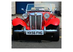 Classic MG car run Brighton, 2016