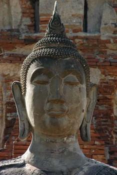 Buddah meditating, Attutaya, Thailand