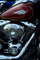 Harley Davison Bike detail, Brighton seafront, 2014