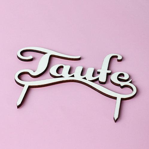 """Taufe"" Cake Topper"