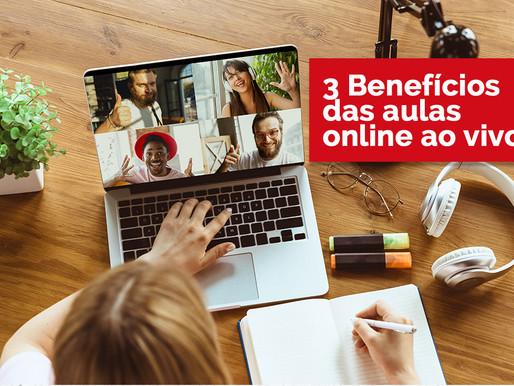 3 Benefícios das aulas online ao vivo
