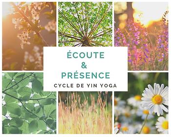 Cycle de Yin Yoga : Ecoute et Présence