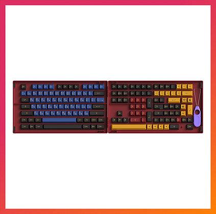 Akko Red & Blue Samurai Keycaps Set