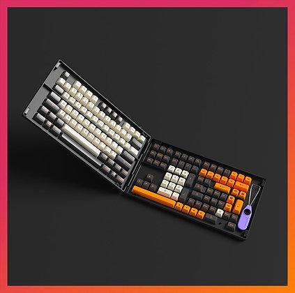 Akko Carbon Retro Keycap Set