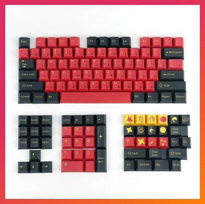 128 Keys Samurai Keycap Set