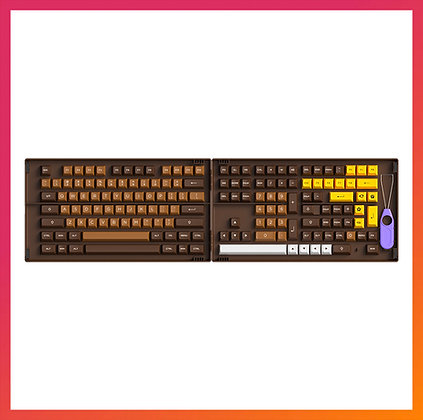 Akko Chocolate Keycap Set