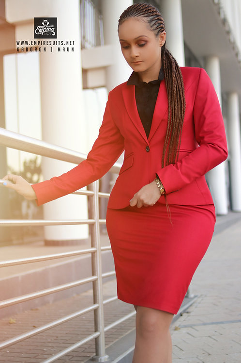 Female corporate Red Suit