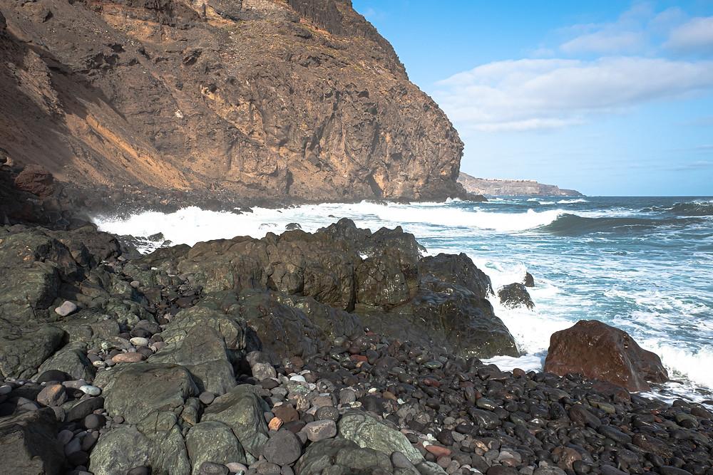 Playa de Las Puntillas, en Santa María de Guía, litoral del norte de Gran Canaria