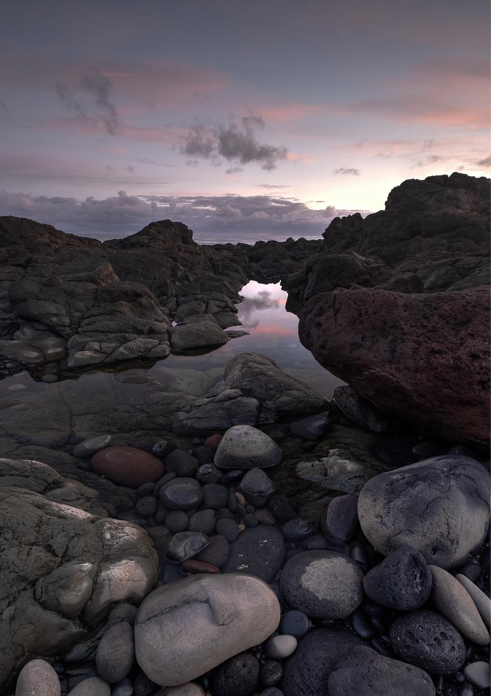 Fotografía en los alrededores a la playa de Vagabundos en Santa María de Guía, litoral del norte de Gran Canaria
