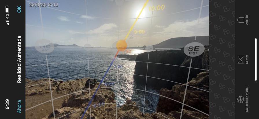Acantilados El bajo de Agustín diablo. Planificación salida de sol con Photopills. Las Palmas de Gran Canaria