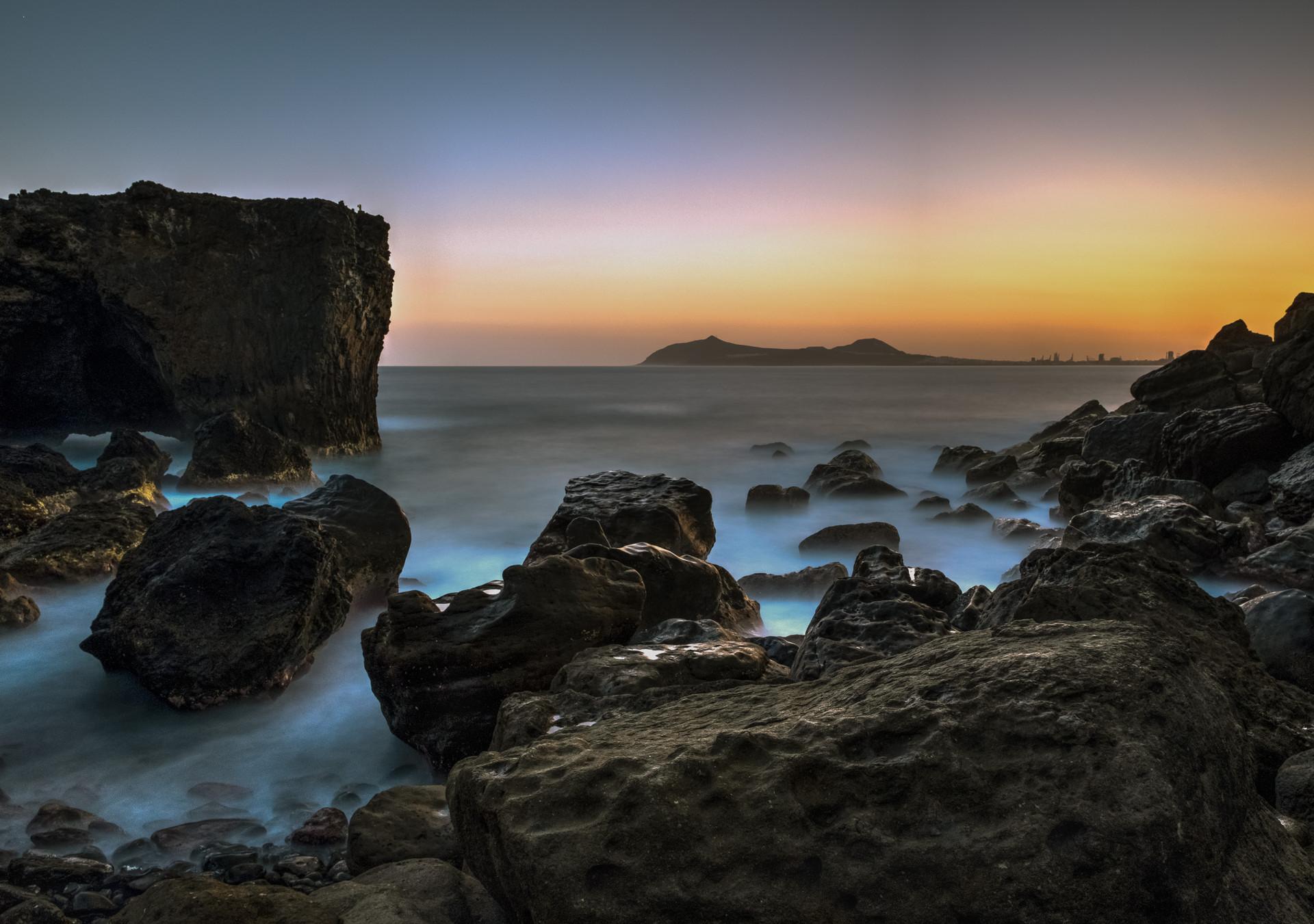 Espectacular amanecer en playa de Punta