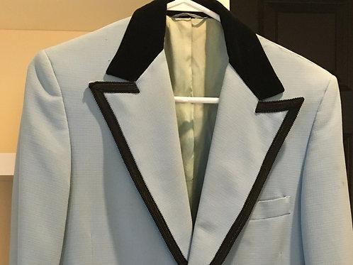 Adult Men's Disco Light Blue Jacket