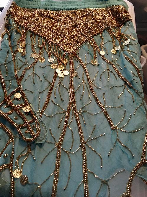 Aqua Wrap-Around Skirt
