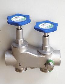 Niro-Anschlussarmatur für VE-Wasse-Anlagen