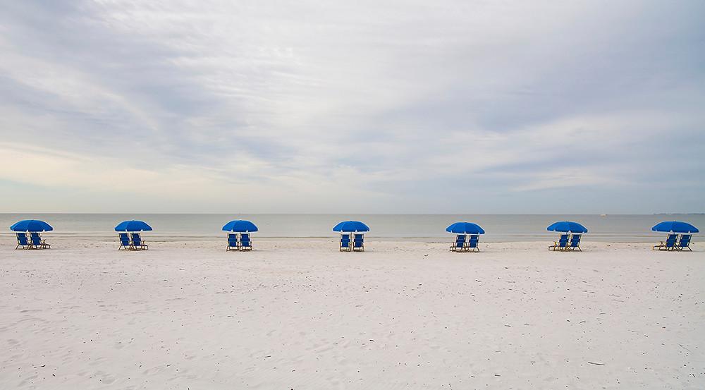 Seats on beach