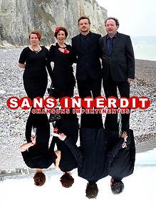Sans interdit, spectacle de chansons insolentes du Théâtre de la Bataille avec Evelyne Bézu, Claire Marion, Benjamin Houdry et Jean-Pierre Andrieu