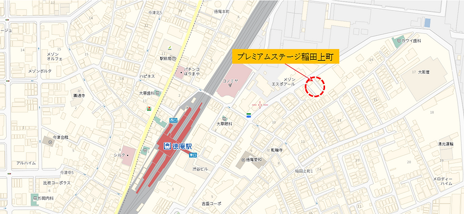 プレミアムステージ稲田上町地図