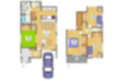 プレミアムステージ逆瀬川の物件ページの区画図、間取図