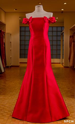 Zibeline misto, detalhe de laços na cor vermelho clássico