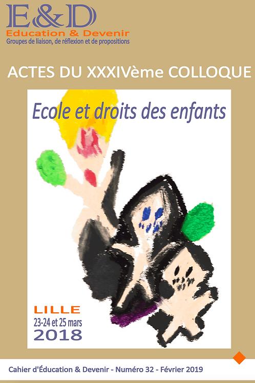 Avril 2019_Cahier n°32 - Ecole et droits de l'enfant