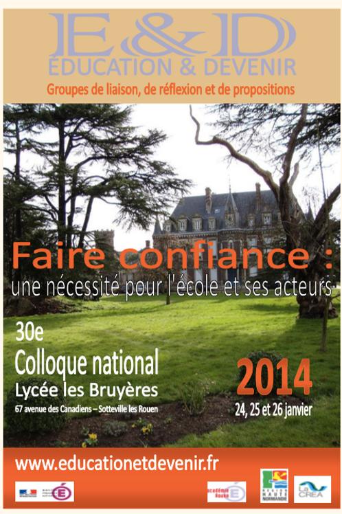 Novembre 2014 _ cahier 23 _ Faire confiance