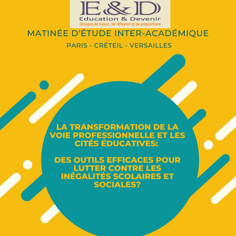 La transformation de la voie professionnelle et les cités éducatives
