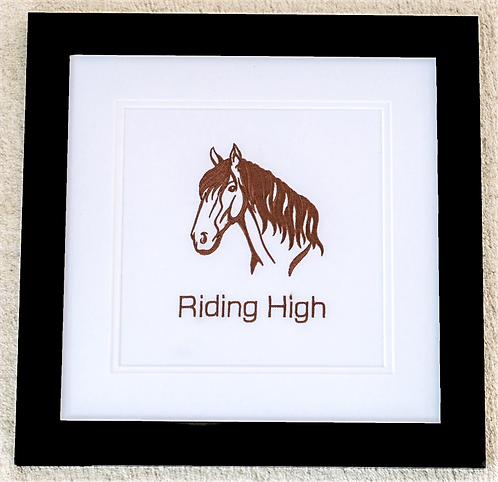 Embroidered Horse in Frame