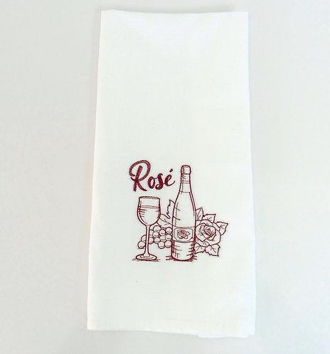 Rose Wine Tea Towel