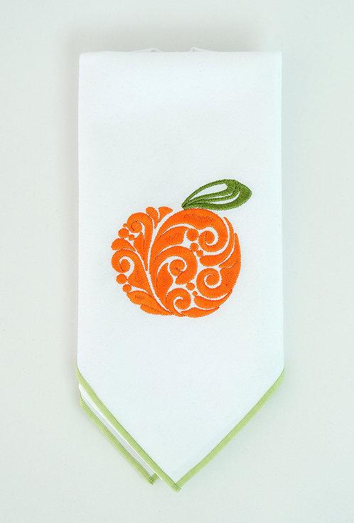 Orange Cotton Feel Trimmed Napkin
