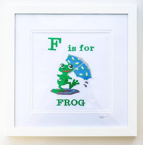 Splashing Around Frog with Umbrella