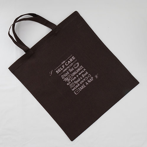 Personalised Classic Cotton Shopper with Self Care Embroidery