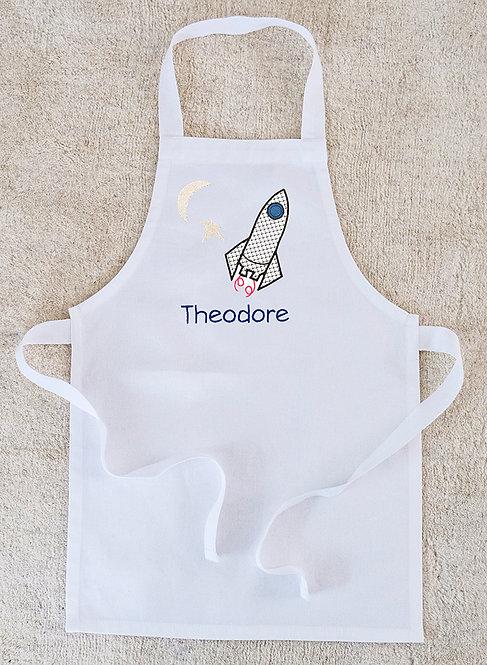 Toddlers Personalised Rocket  Apron