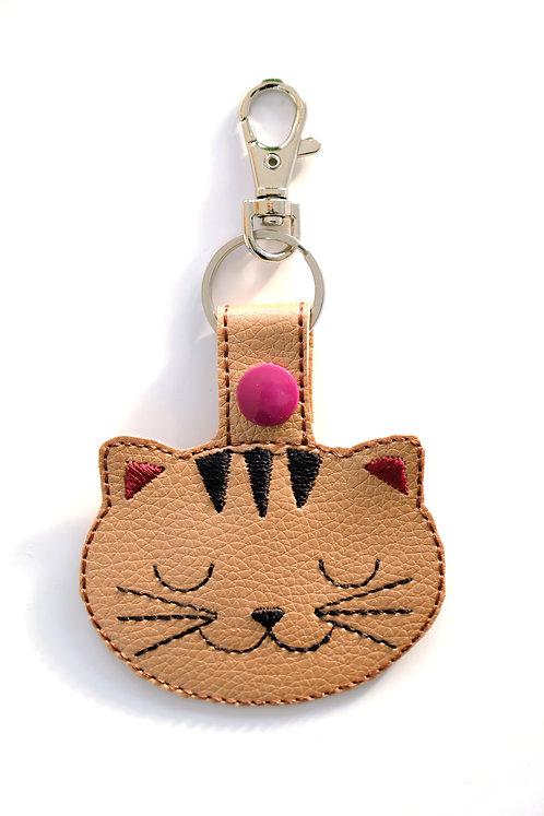Sleeping Cat Key Fob/Bag Charm